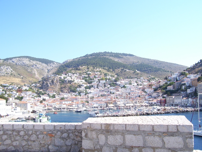 Hydra Harbour view