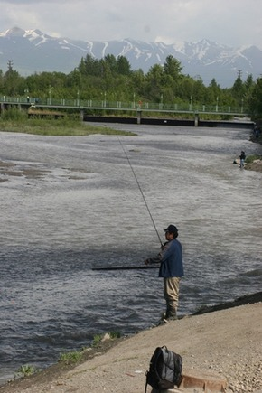 fishing on Ship Creek in Anchorage