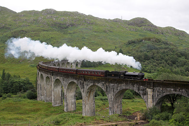 The Jacobite Express on the Glenfinnan Viaduct