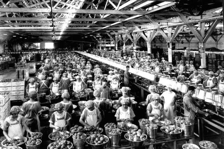 Women working in the factory, credit -reddit.com