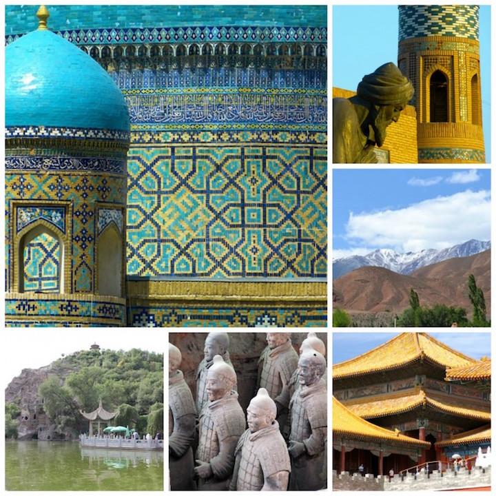 Samarkand (L); Khiva (UR); Kyrgyzstan mountains (CR); Ürümqi (LR); Xian (L. Middle); Beijing (LL)