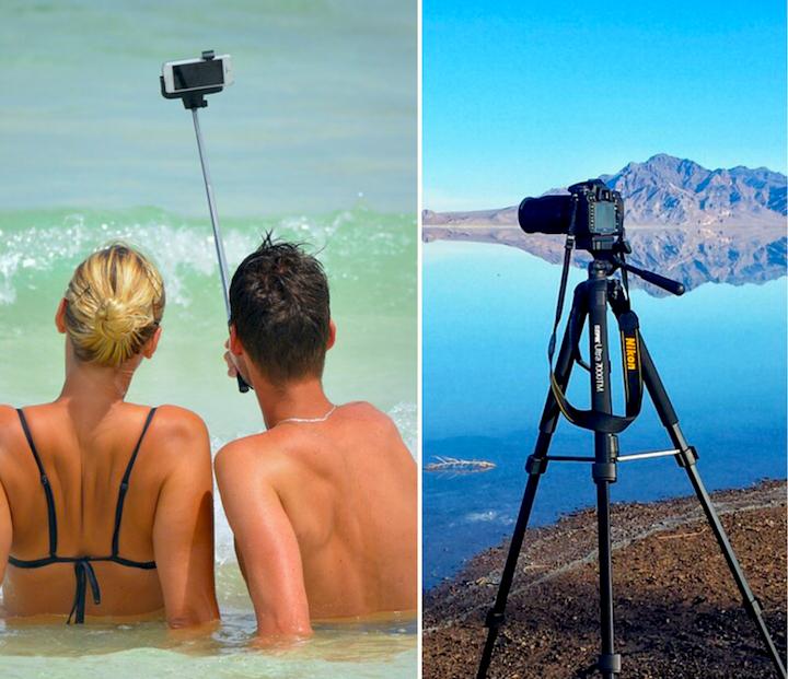 Selfie stick vs Tripod