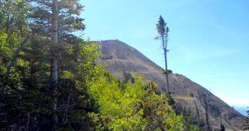 looking up at Hahn's Peak