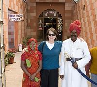 Elizabeth Hansen en route to Agra