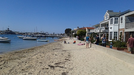Balboa Island's boardwalk