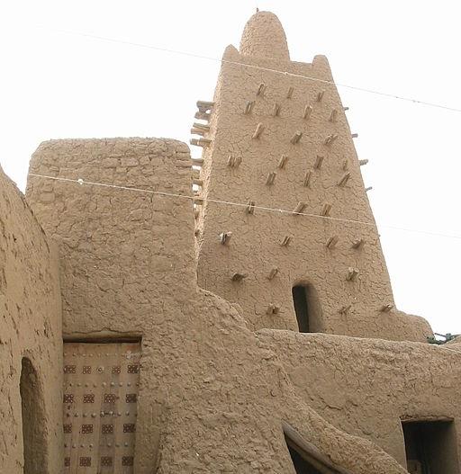 Djinguereber Mosque, Timbuktu , Credit Wikimedia