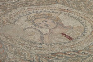 floor mosaic in ancient Roman house, Volubilis