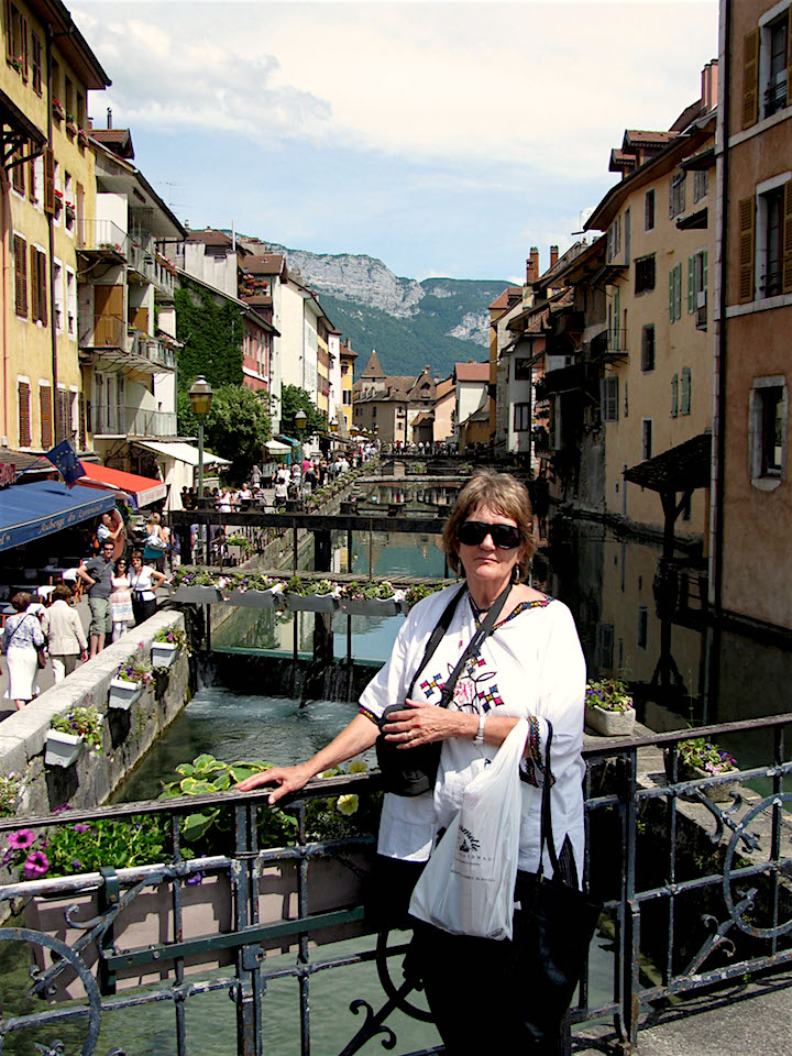 the author in Annecy, I the Savoy region of France