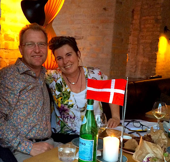 Caroline and husband in Copenhagen