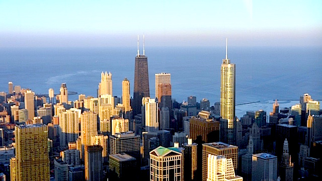 Chicago skyline from the Willis Tower