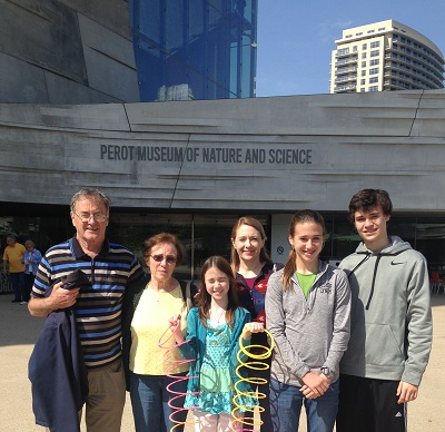 Author and friends at Perot Museum