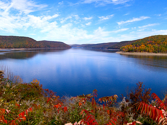 Allegheny reservoir, photo by J. Knowles.