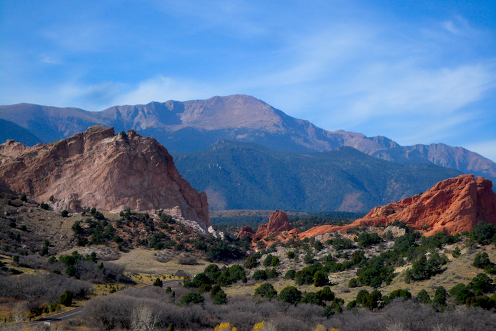 Gateway Rocks and Pikes Peak