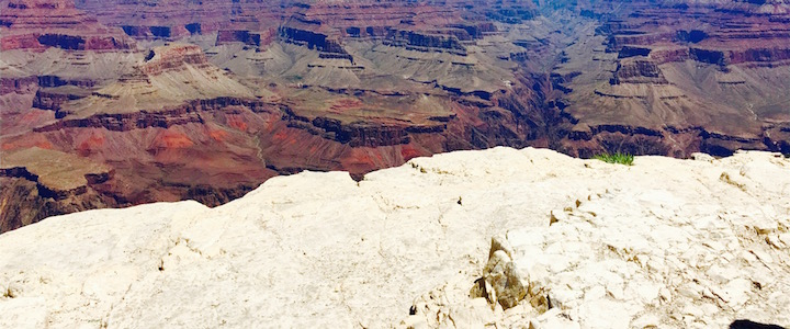 Grand Canyon seen from far