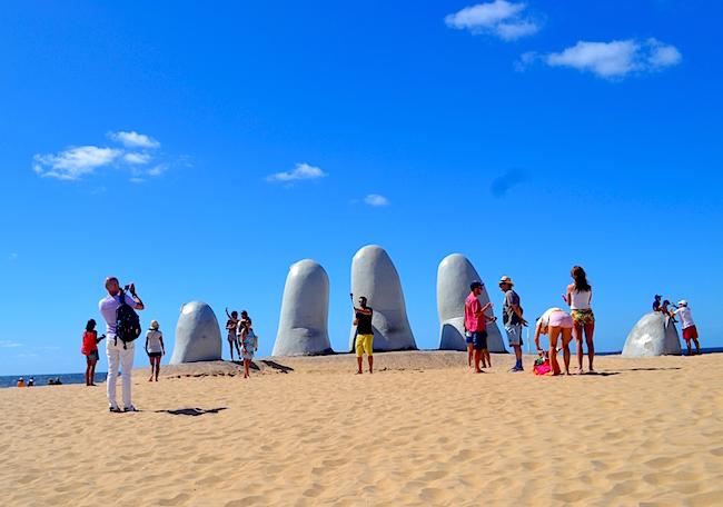 Hand Sculpture, Punta del Este Uruguay