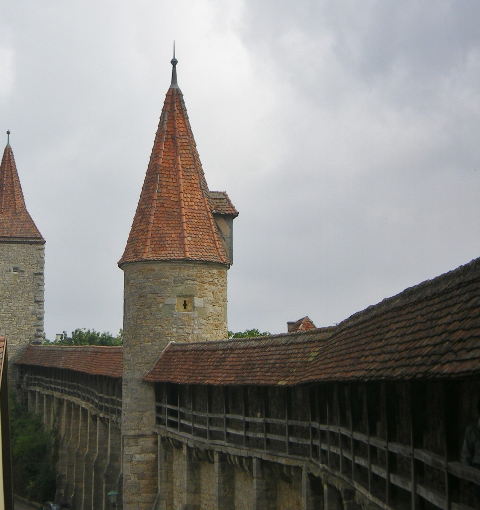 section of Rothenburg's covered, fortified wall
