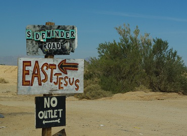 East Jesus sign