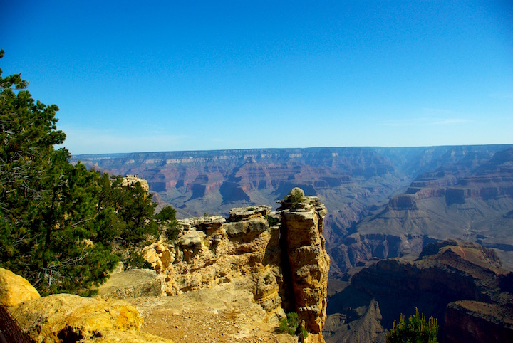 First sight of Grand Canyon