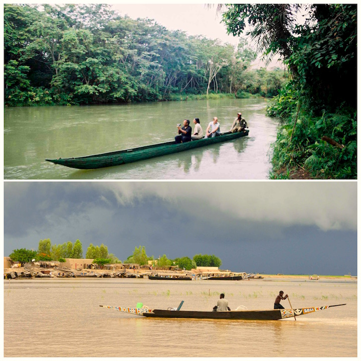 Lefini River, Congo (L), Storm on the Niger River , Mopti(R)