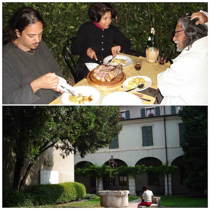 Florence, IT (L), Wishing well at Juliette House Verona (R)