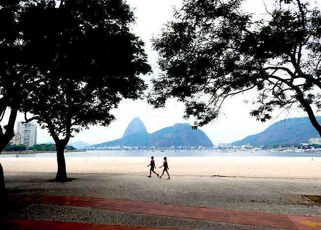 Ipanema Beach with Sugar Loaf in background