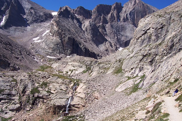 side trail down to Chasm Lake