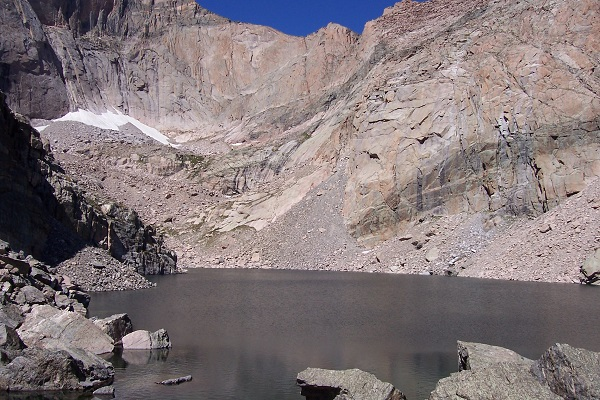 Chasm Lake itself