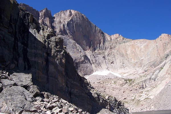 Longs Peak from Chasm Lake.