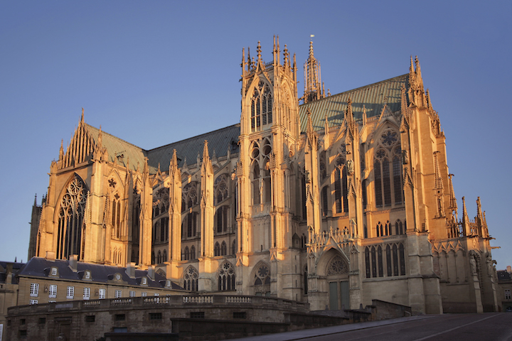 The Saint-Stephen Cathedral, Metz, Credit wikipedia