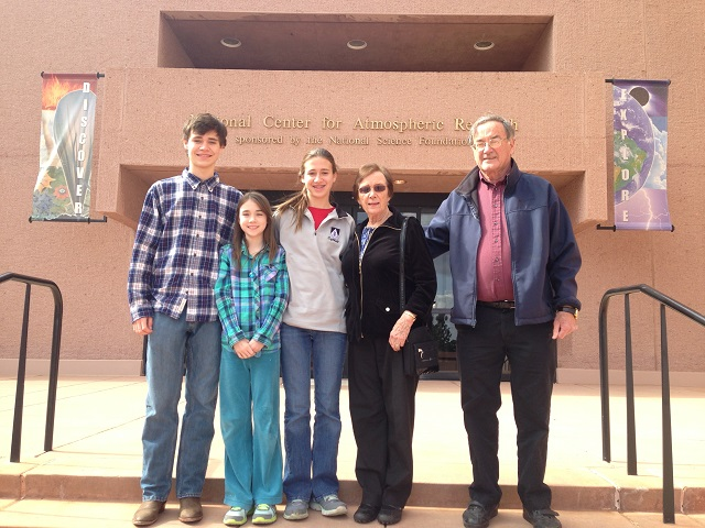 Texans and I at entrance to NCAR