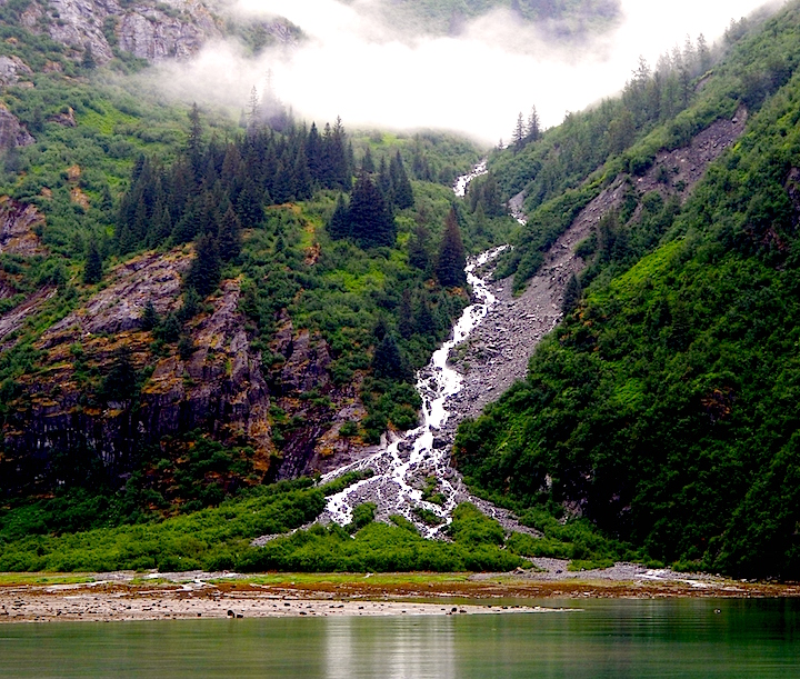One of the many stunning waterfalls of Alaska