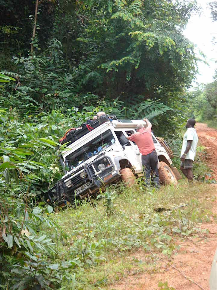 Slid off the road in Cameroon