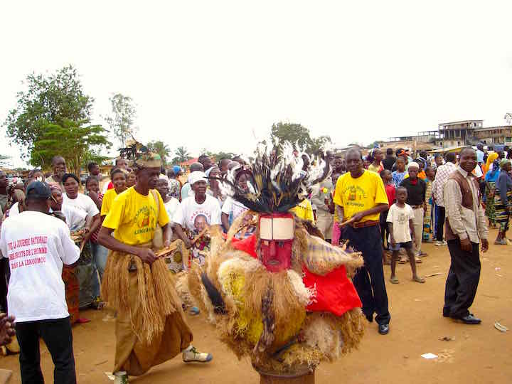 Tribal dancing in Sibiti, Congo