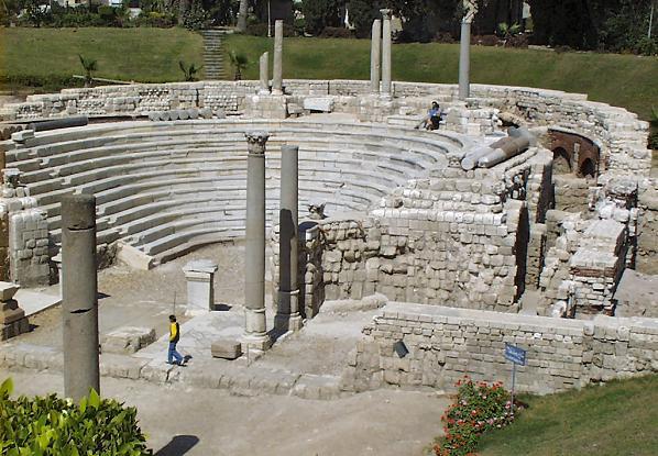 Roman Amphitheater, Alexandria (credit Lexlook)