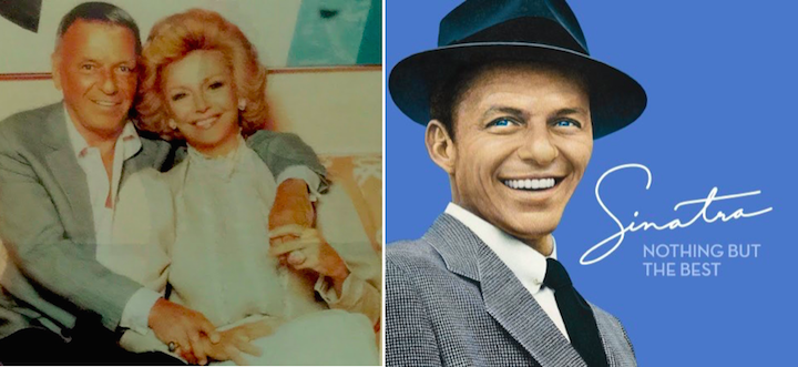 Frank Sinatra and his wife(L) - Frank (R)