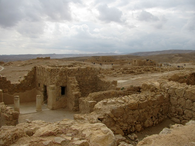general view of Masada from the palace