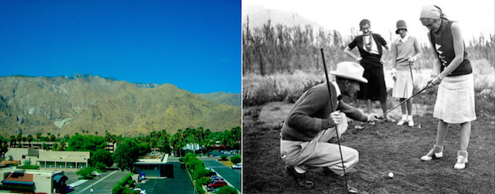 Golf Course Now (L) and then (R)