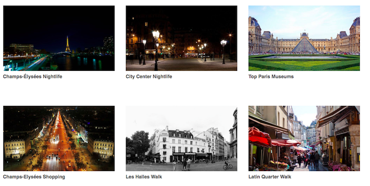 Paris City walks as an example