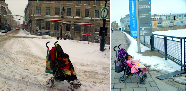 strollers in Montreal