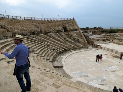 our guide, Danny, tells us about the Roman theater